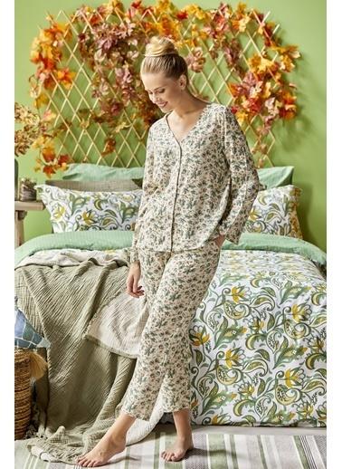 Bella Maison %100 Viskon Verde Pijama Altı Yeşil